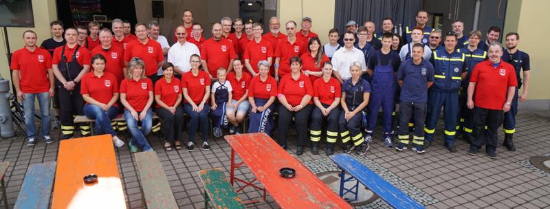 Gruppenbild Feuerwehrfest 2016